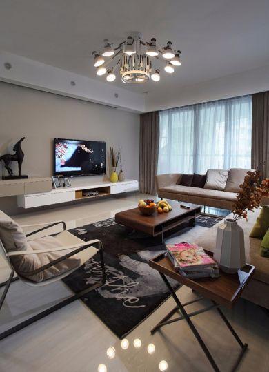 客厅茶几现代简约风格装潢设计图片