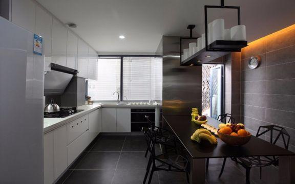 厨房餐桌现代简约风格装潢效果图