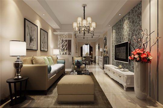 简欧风格120平米三室两厅新房装修效果图
