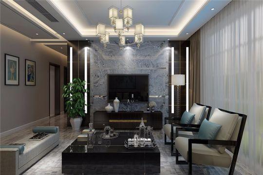 客厅窗帘现代风格装潢效果图