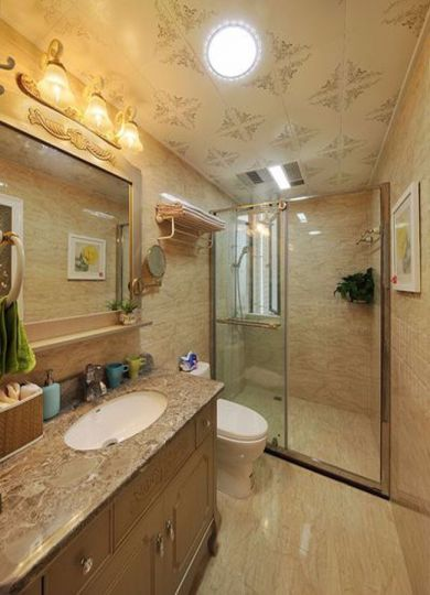 卫生间简欧风格装饰效果图