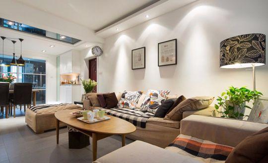 国富沙磁巷简约风格120平三居室装修效果图