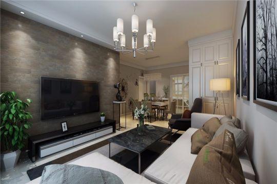 绿地新都会90平现代风格三居室装修效果图