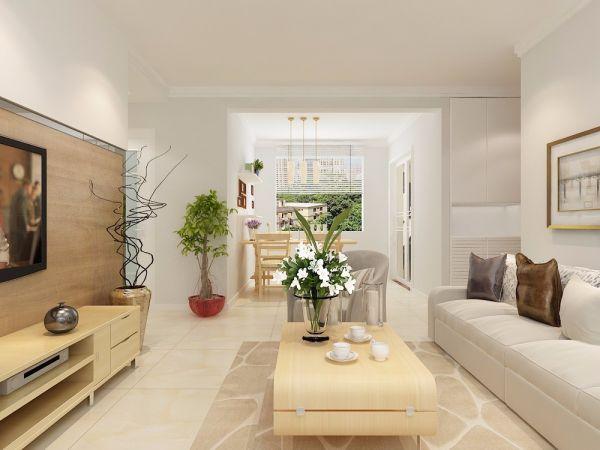 中海国际108平三居室现代北欧风装修效果图