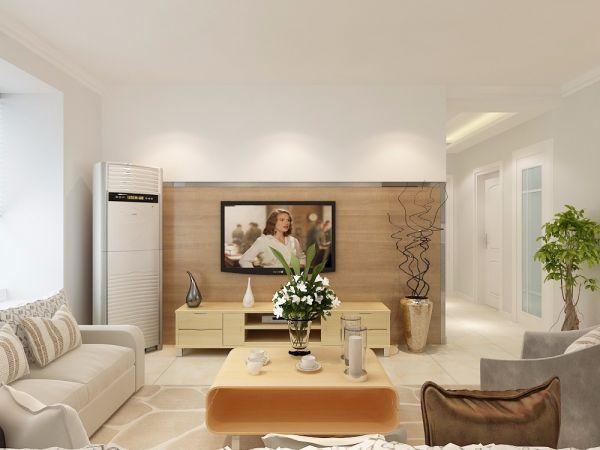 客厅背景墙北欧风格装修图片