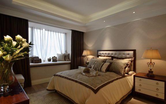104平米美式风格二居室装修效果图