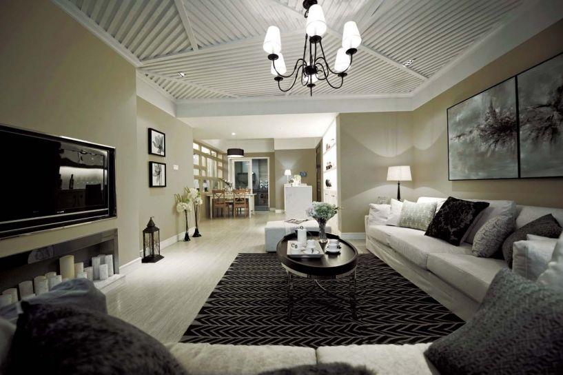 渝高香洲现代简约105平四居室装修效果图
