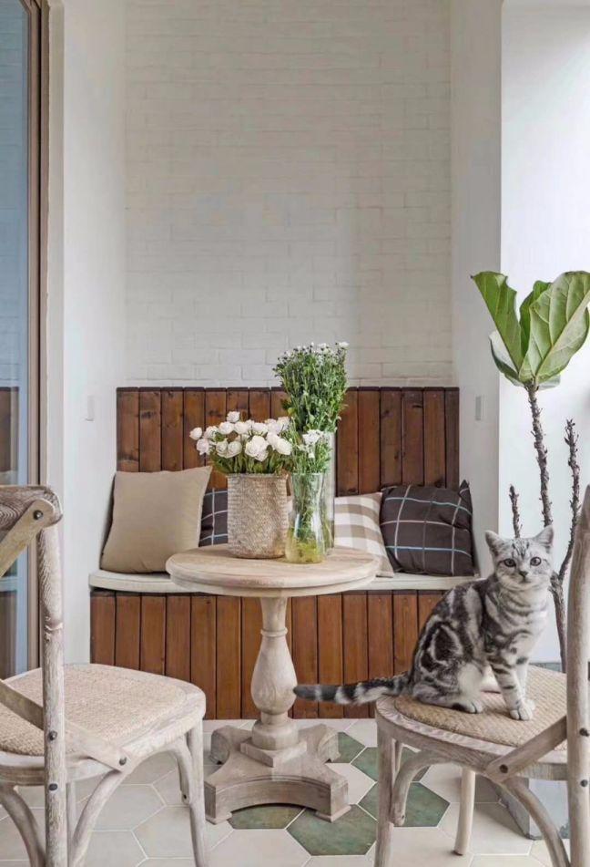 阳台地砖美式风格装潢效果图