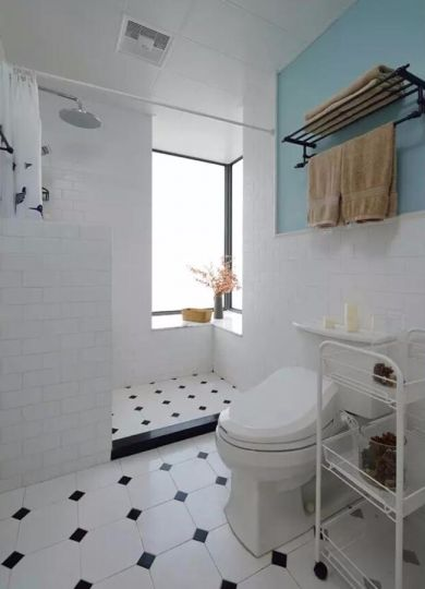 卫生间地砖混搭风格装饰效果图