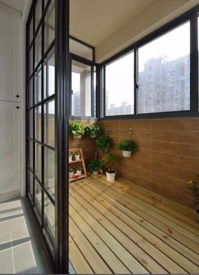 阳台推拉门混搭风格装潢效果图