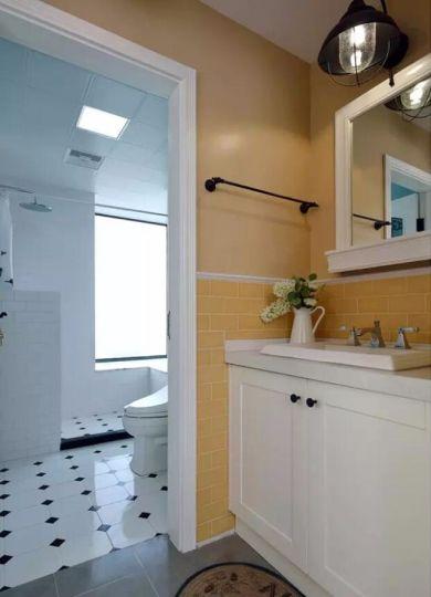 卫生间洗漱台混搭风格装饰图片