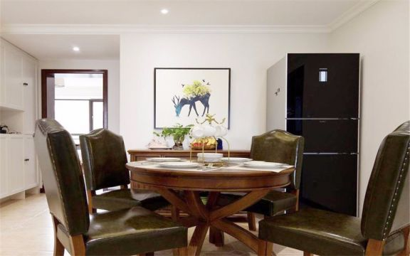 海棠园120平美式三室两厅一卫装修效果图