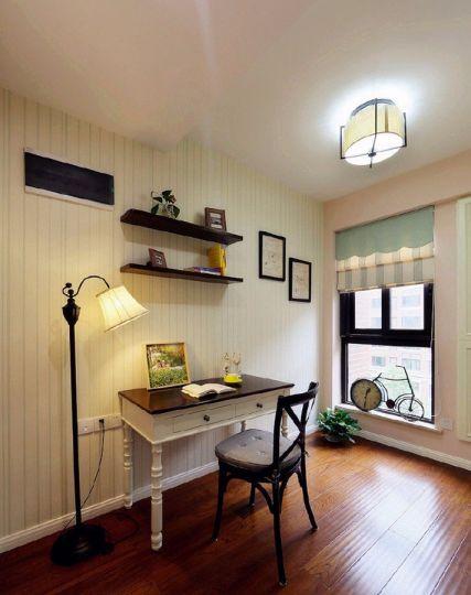 书房书桌美式风格装修设计图片
