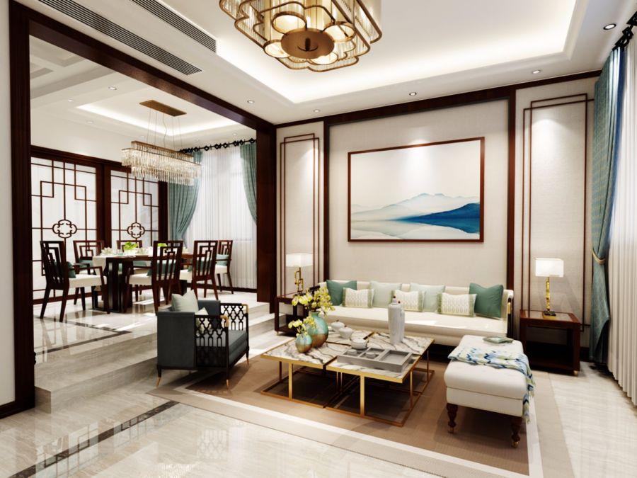 249平米新中式风格别墅装修效果图