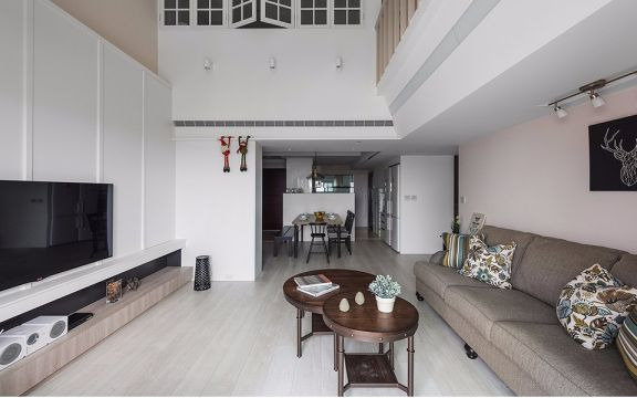 汇仁阳光花园四室二厅120平美式装修效果图