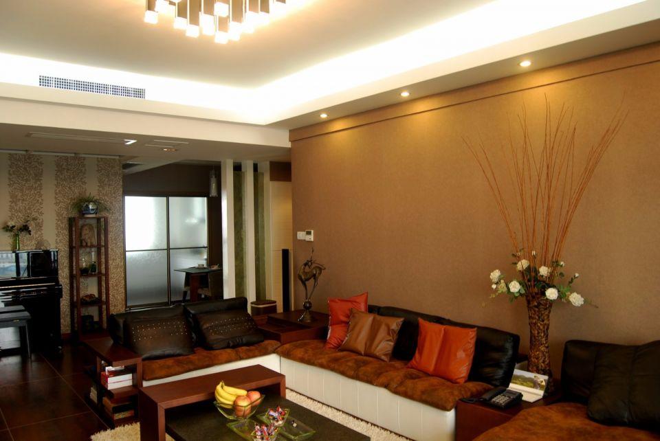 新中式风格90平米两室两厅新房装修效果图