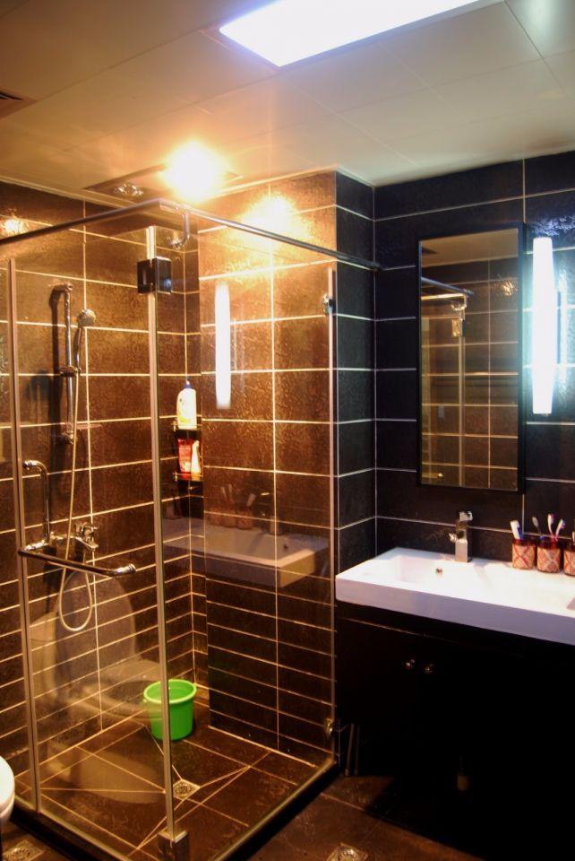 卫生间地板砖新中式风格装饰设计图片
