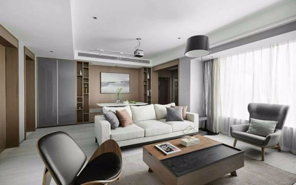 90平米现代风格三居室装修效果图