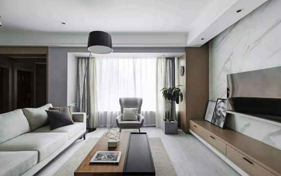 客厅咖啡色茶几现代简约风格装饰效果图