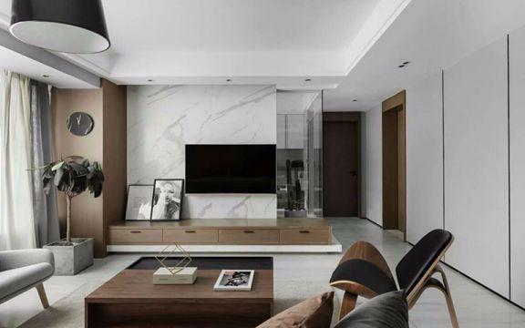 客厅电视柜现代简约风格装潢效果图
