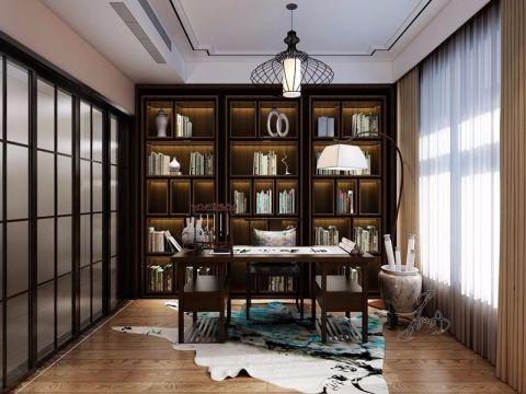 书房书架中式风格装修设计图片