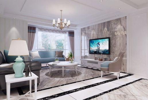 160平米欧式新古典四居室装修效果图