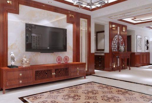 中式风格330平米别墅新房装修效果图