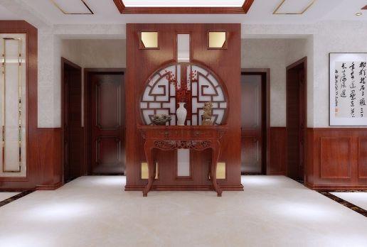 玄关地砖中式风格装修效果图