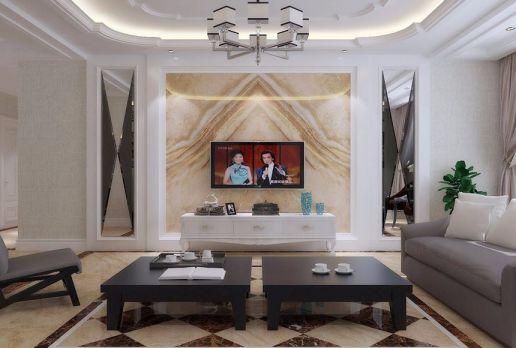 客厅电视柜混搭风格装修设计图片