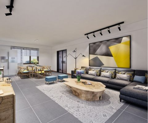 现代简约风格190平米大户型室内装修效果图