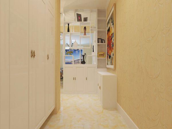 玄关黄色走廊现代简约风格装潢效果图