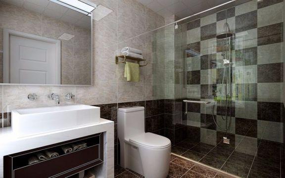 卫生间现代简约风格装潢图片