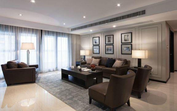 2018美式客厅装修设计 2018美式茶几设计图片