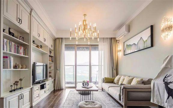 古雄新居100平欧式风格三室两厅一卫装修效果图
