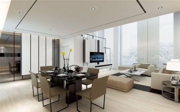 现代简约风格167平米复式新房装修效果图