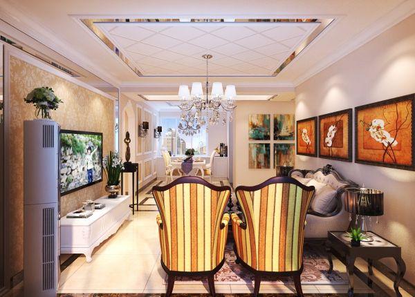 客厅照片墙欧式风格装饰设计图片