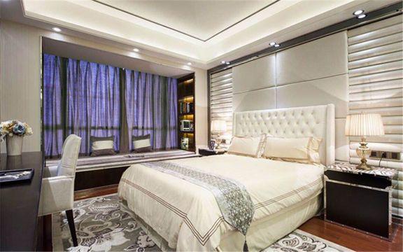 卧室床简欧风格装修设计图片