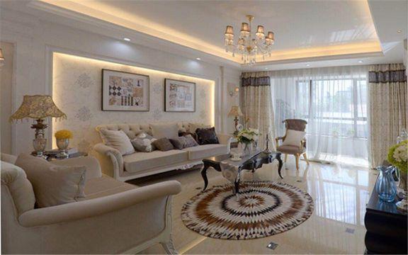 简欧风格97平米两室两厅新房装修效果图