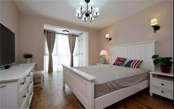 卧室白色床美式风格装潢图片