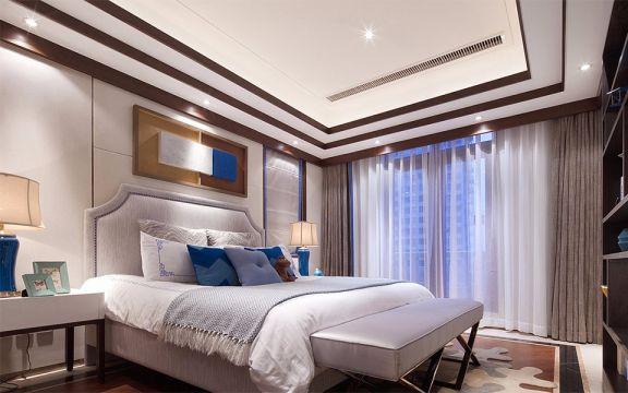卧室吊顶新中式设计图欣赏
