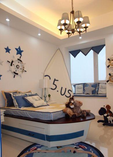 儿童房白色飘窗现代风格装修图片
