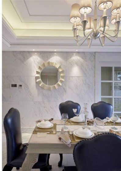 餐厅餐桌法式风格装潢效果图