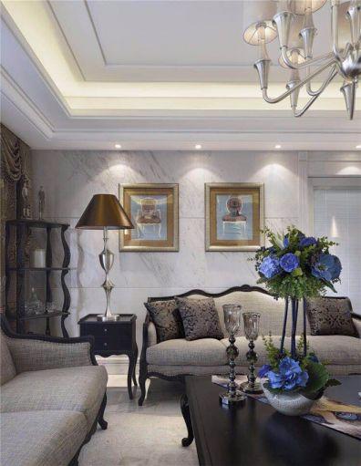 客厅照片墙法式风格装饰图片