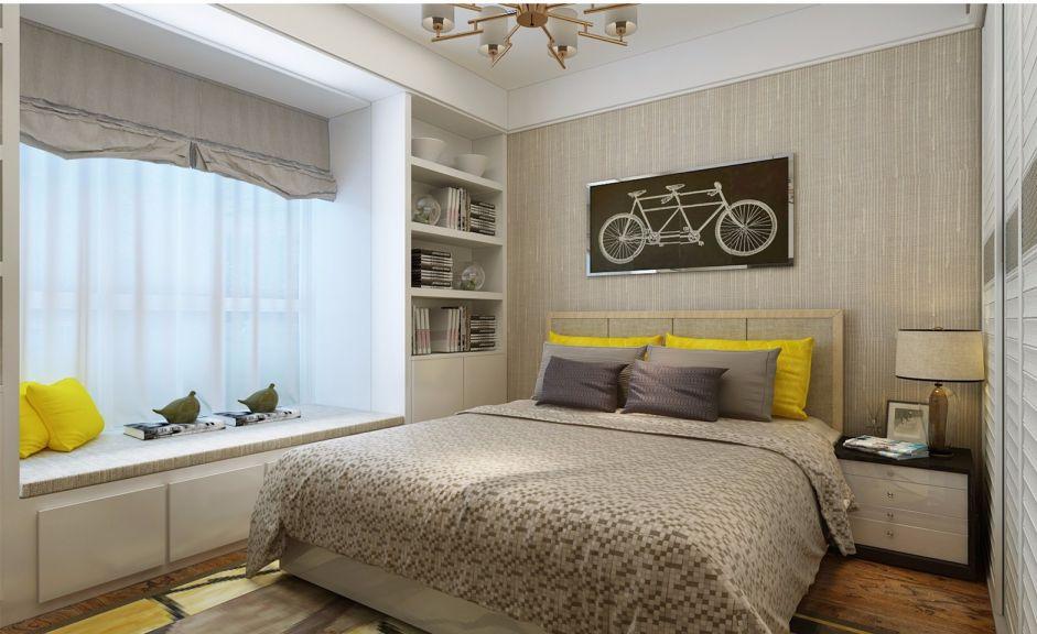 卧室窗帘北欧风格装饰图片