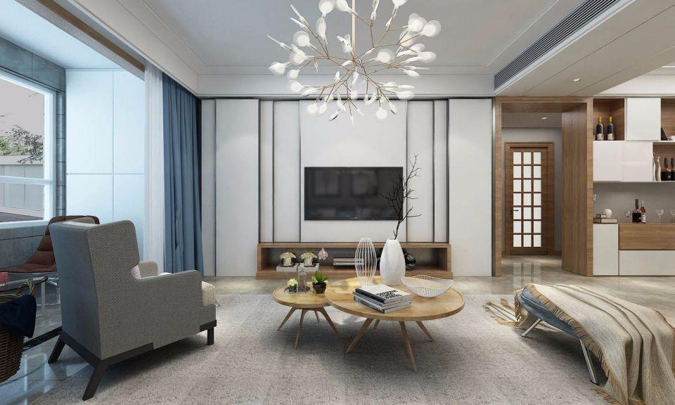 北欧风格98平米两室两厅新房装修效果图