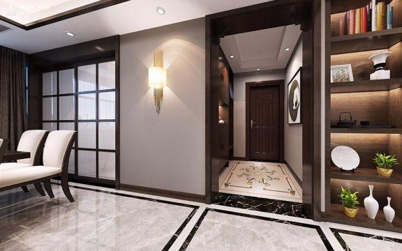 餐厅窗帘新中式风格装修设计图片