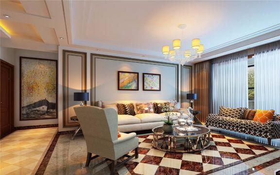 现代风格135平米三室两厅新房装修效果图
