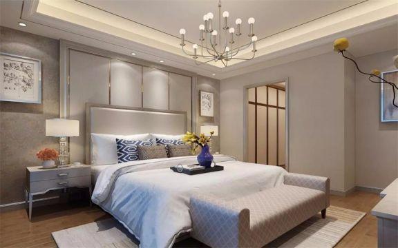 卧室床头柜现代简约风格装饰效果图