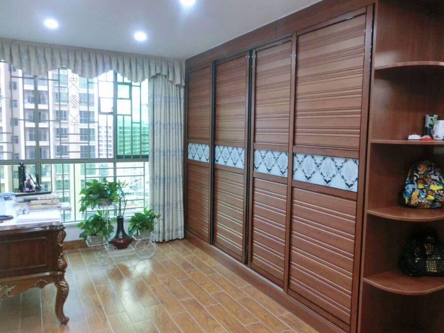 书房地板砖美式风格装潢效果图
