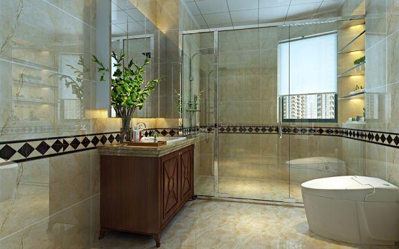 卫生间洗漱台欧式风格装修设计图片